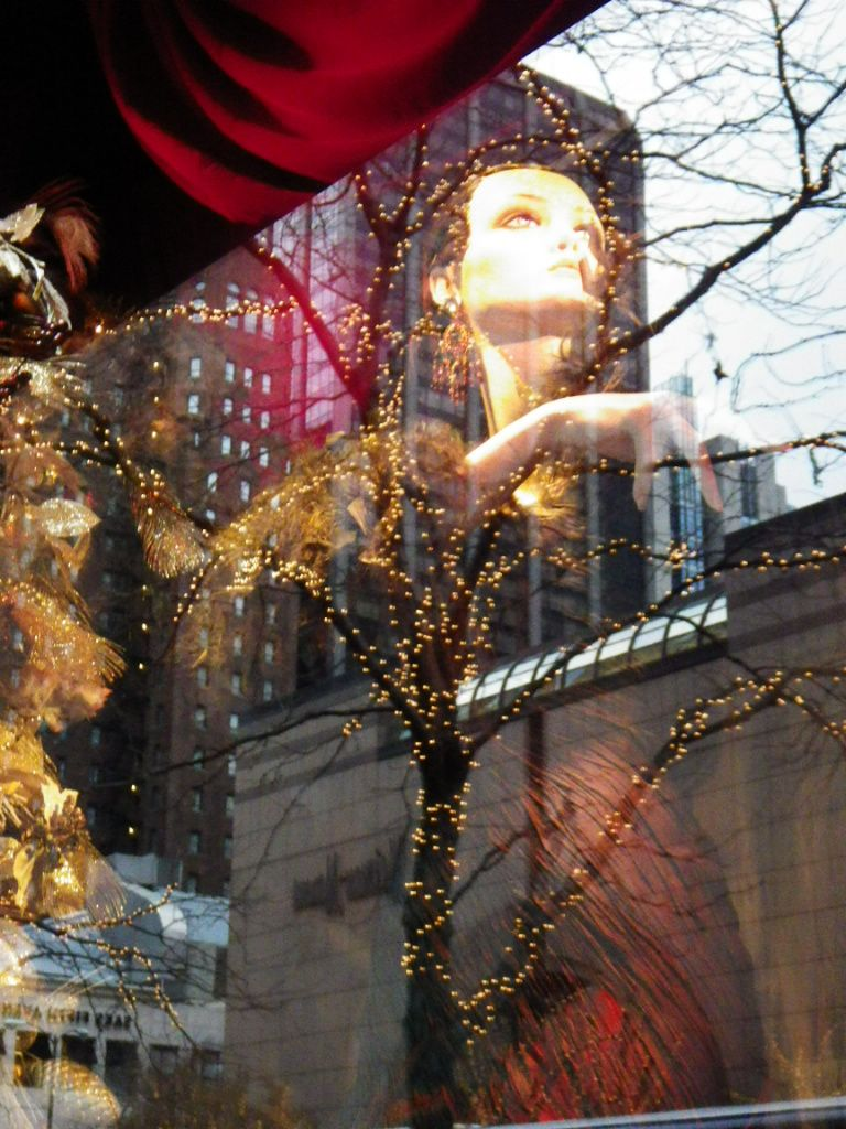 Ralph Lauren store window with buildings reflected in glass 12-5-13