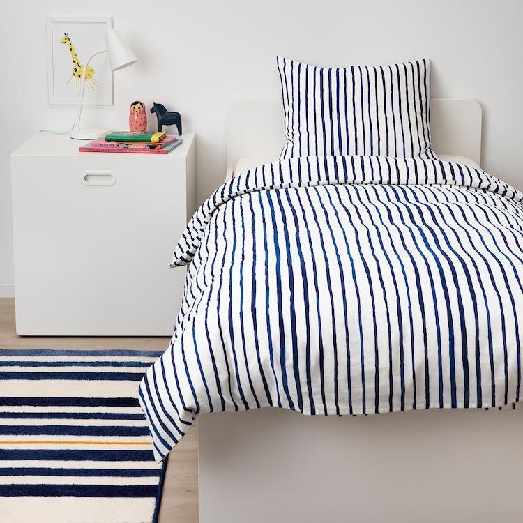 Sanglarka Duvet Cover And Pillowcase S Stripe Blue White Twin Ikea In 2021 Duvet Covers Ikea Pillow Cases