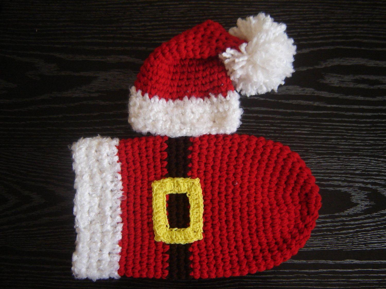 Santa\'s Cocoon Set Baby Photography Prop Newborn Size | Pinterest