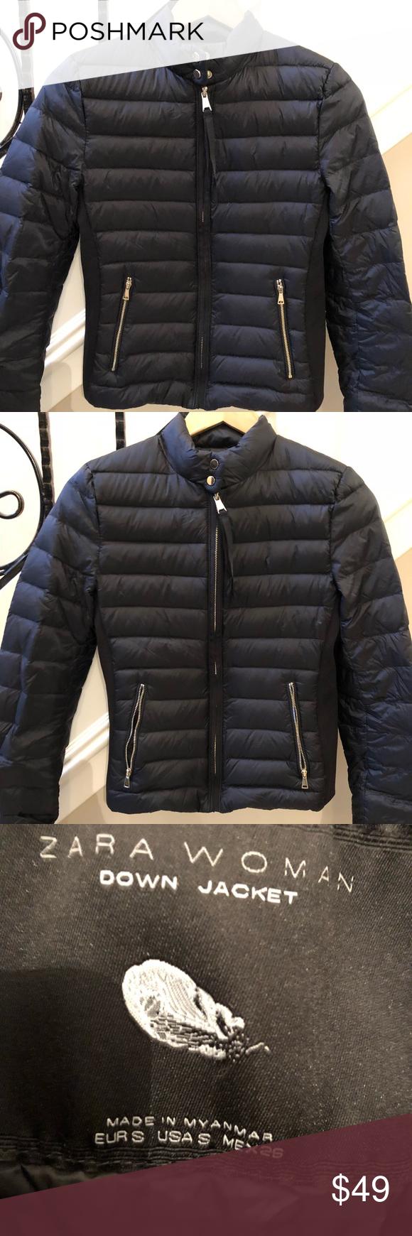 Zara Lightweight Puffer Jacket Black Puffer Zara Jackets [ 1740 x 580 Pixel ]