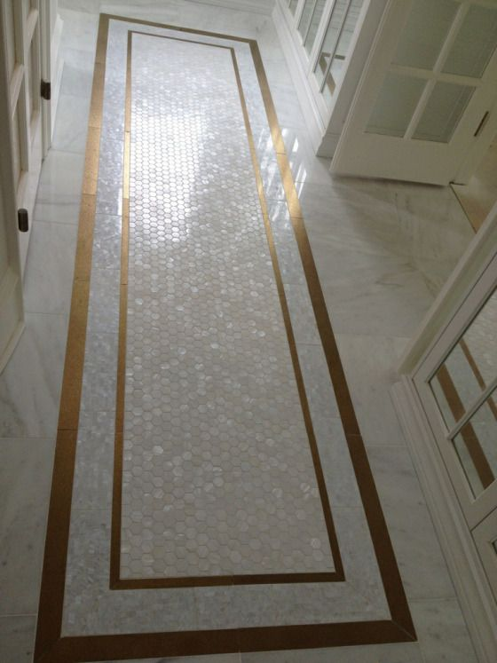 Gold & Pearl Tile in this Edmonton Closet – Oh You Fancy!