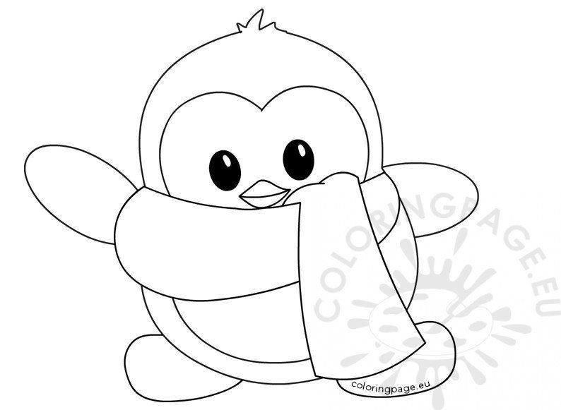 Christmas Coloring Pages Penguins In 2020 Penguin Coloring Pages Baby Coloring Pages Penguin Coloring