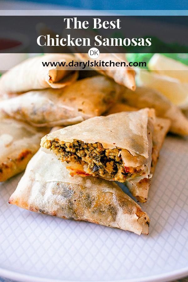 The best chicken samosa recipe. Spring roll pastry is used to ensure a crisp samosa with copious amounts of filling. Fantastic aroma from the coriander, mint and spice mix. #samosa #samosas #chickensamosa #samoosa #samoosas #chickensamoosa #coriander #mint #HealthyDietFoodRecipes