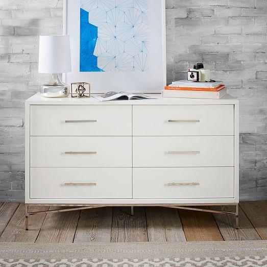 City Storage 6Drawer Dresser White west elm Bedroom