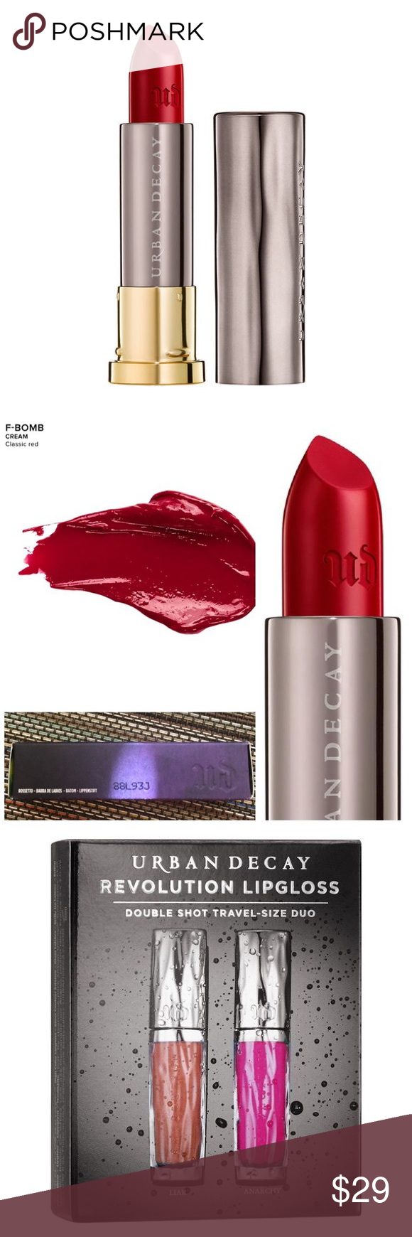 NEW Urban Decay lipstick and lip glosses New in box Urban