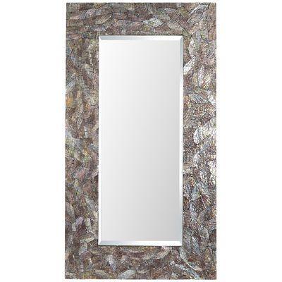 Crackled Mother-of-Pearl Floor Mirror | Floor mirrors | Pinterest ...