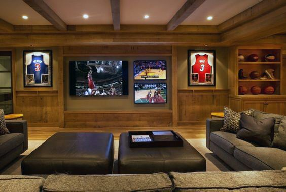 70 Home Basement Design Ideas For Men Masculine Retreats