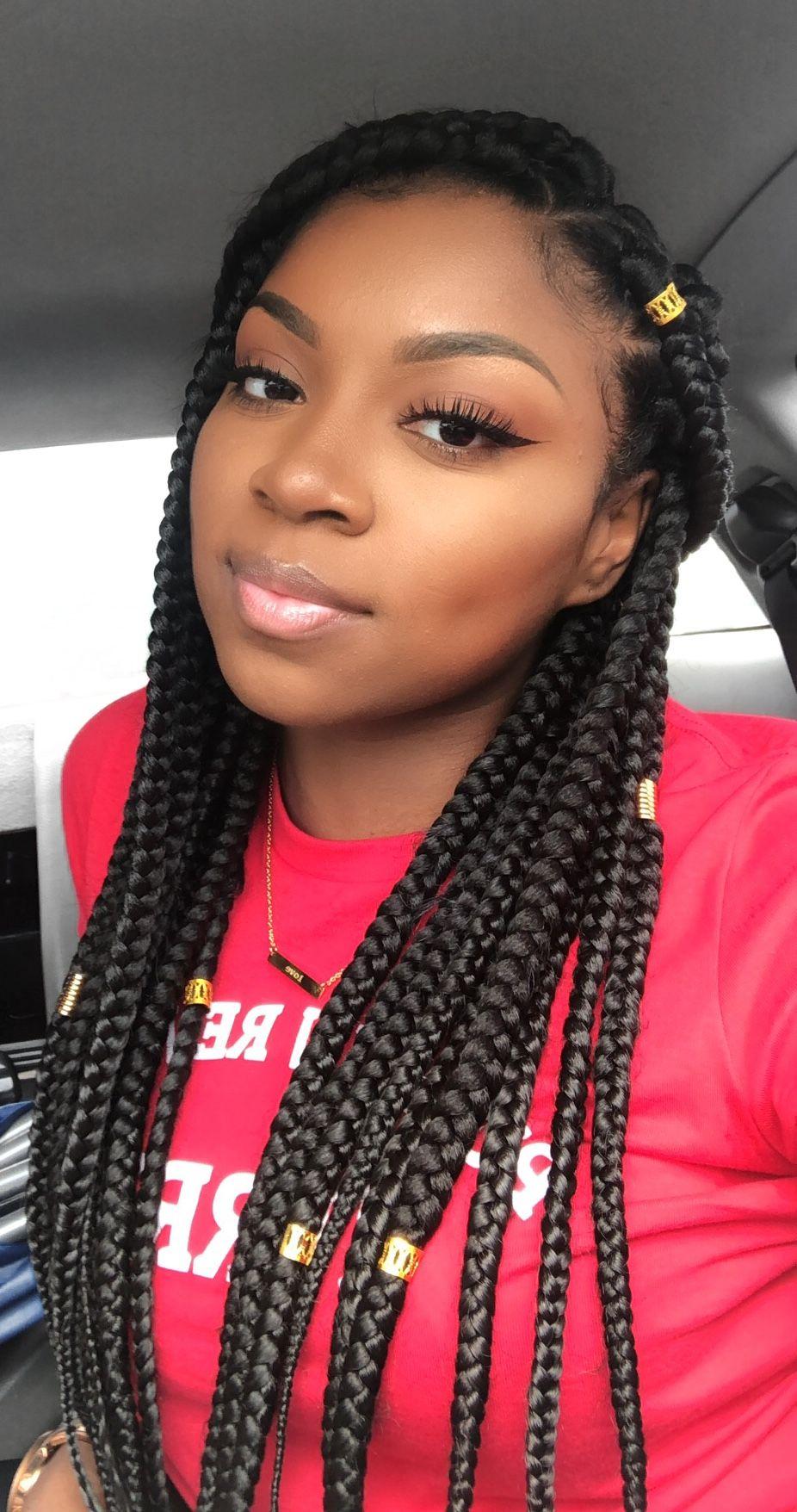 Medium Triangle Part Box Braids🎡 Hair in 2019 Box