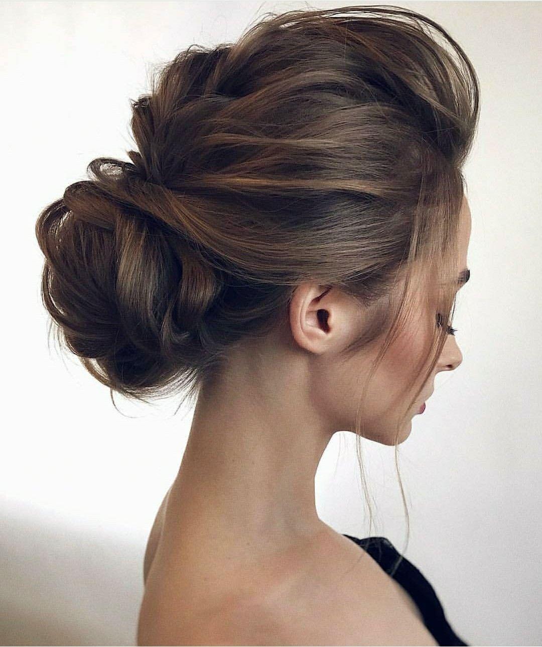 ensede topuz   hairstyles in 2019   chignon hair, wedding