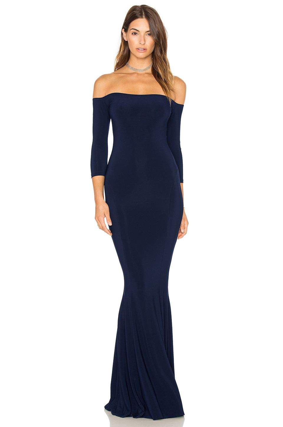 Norma Kamali Off The Shoulder Fishtail Gown #affiliate