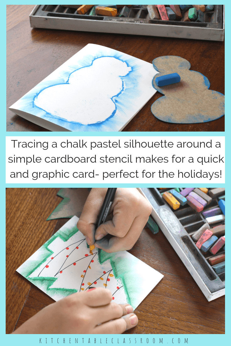 Easy Snowman Drawing with Chalk Pastels - The Kitchen Table Classroom