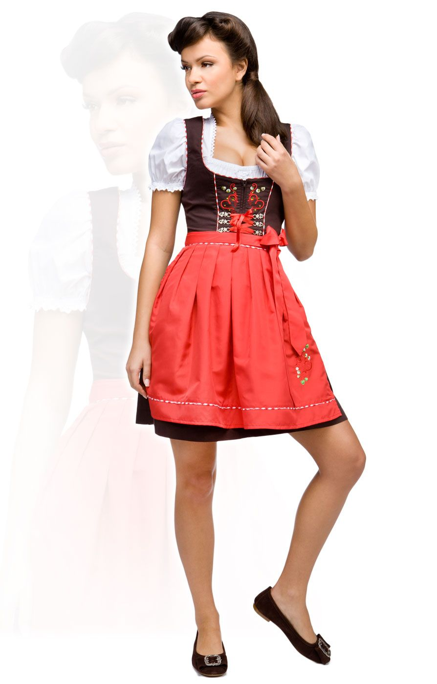 stockerpoint minidirndl 3tlg kathy rot 50 cm wiesn dirndl. Black Bedroom Furniture Sets. Home Design Ideas