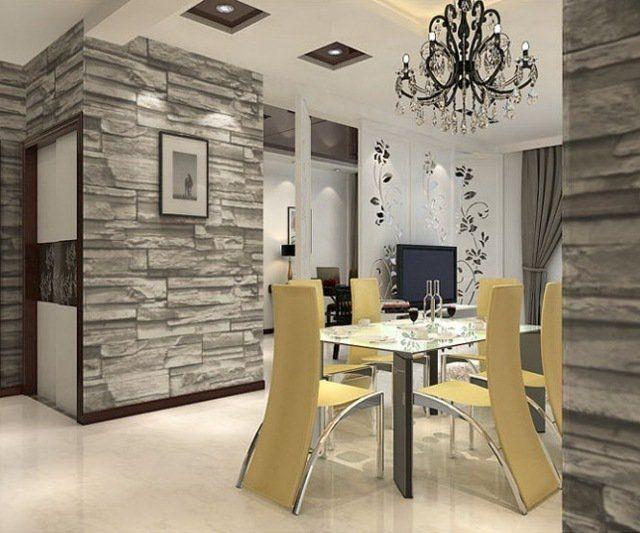 Papier peint trompe l\'œil - 33 idées pour embellir maison | Chaises ...