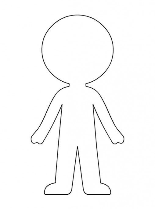Paper Doll Template Best Coloring Pages For Kids Paper Doll Printable Templates Paper Doll Template Paper Dolls Diy