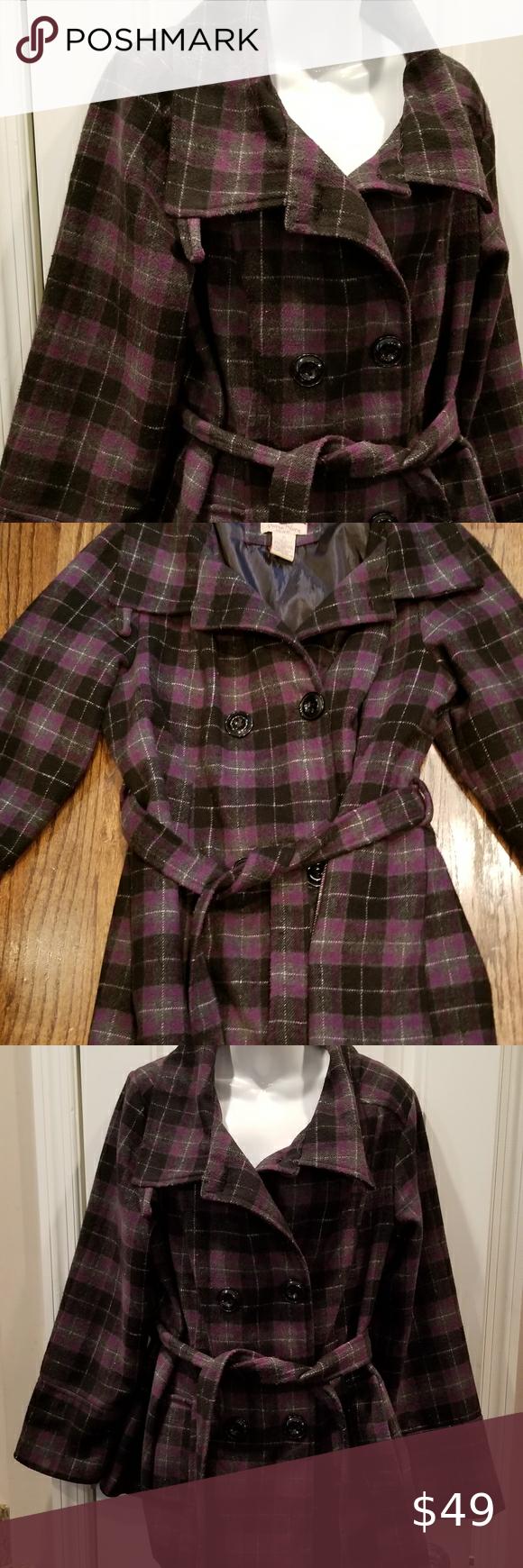 Paris Blues Wool Purple Black Plaid Coat Sz 1x Paris Blues Wool Blend Purple And Black Plaid Coat Sz 1x In Good Pre Plaid Coat Blue Outerwear Black Wool Blazer [ 1740 x 580 Pixel ]