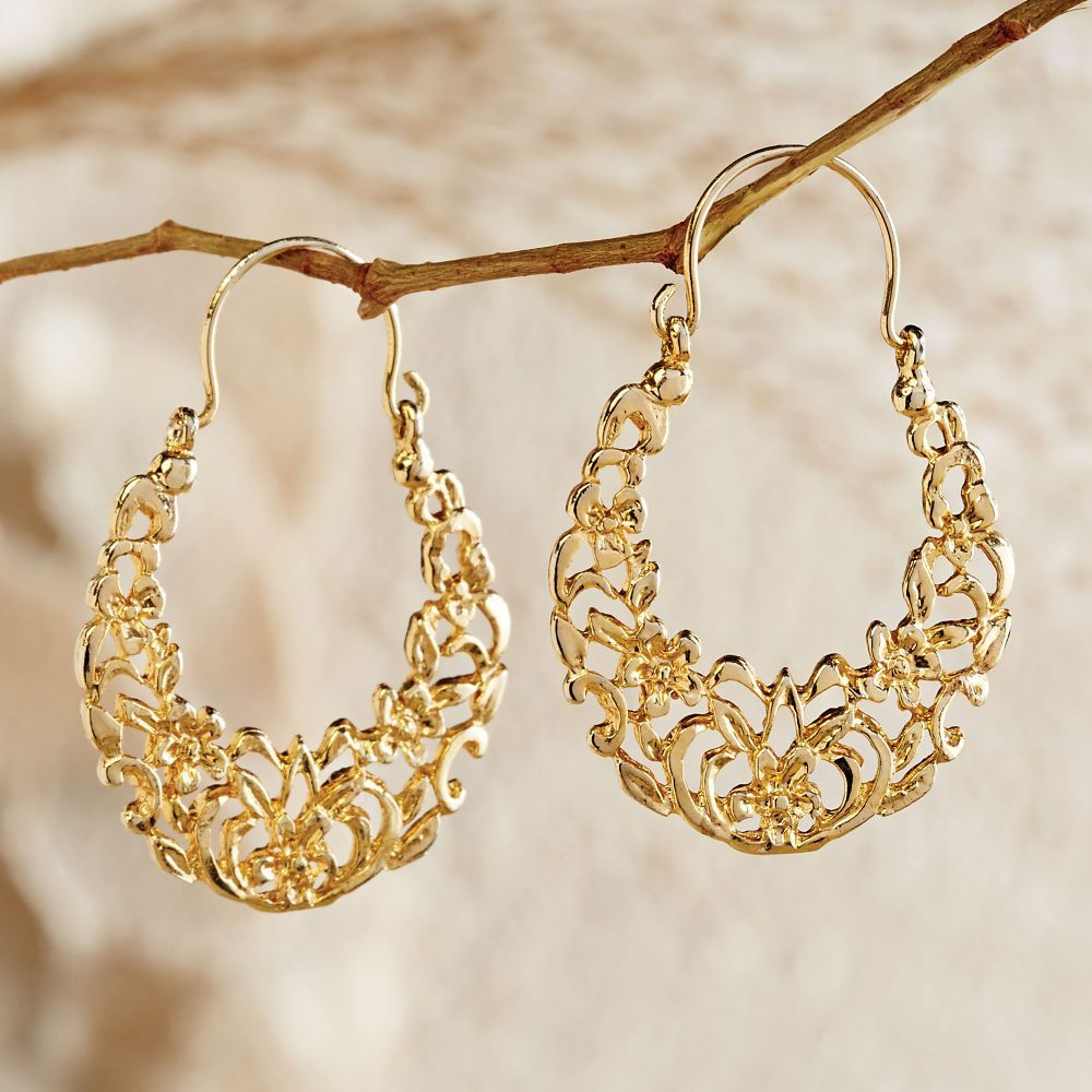 Egyptian Arabesque Gold Earrings | National Geographic Store, $79 ...