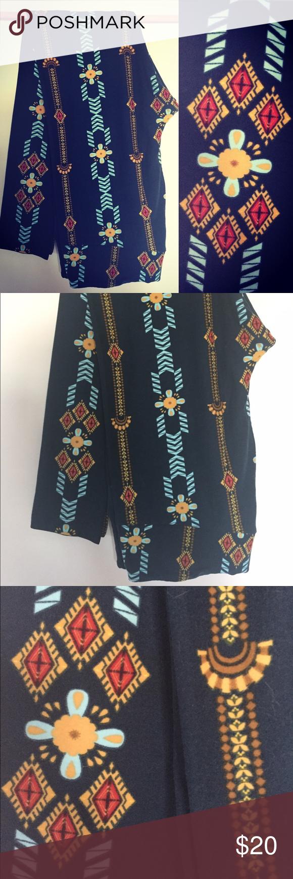 ca22302b53a3fc LuLaRoe TC Blue Aztec Print Leggings EUC Buttery soft LuLaRoe leggings with  blue Aztec print. Only worn twice. Washed per LLR standards.