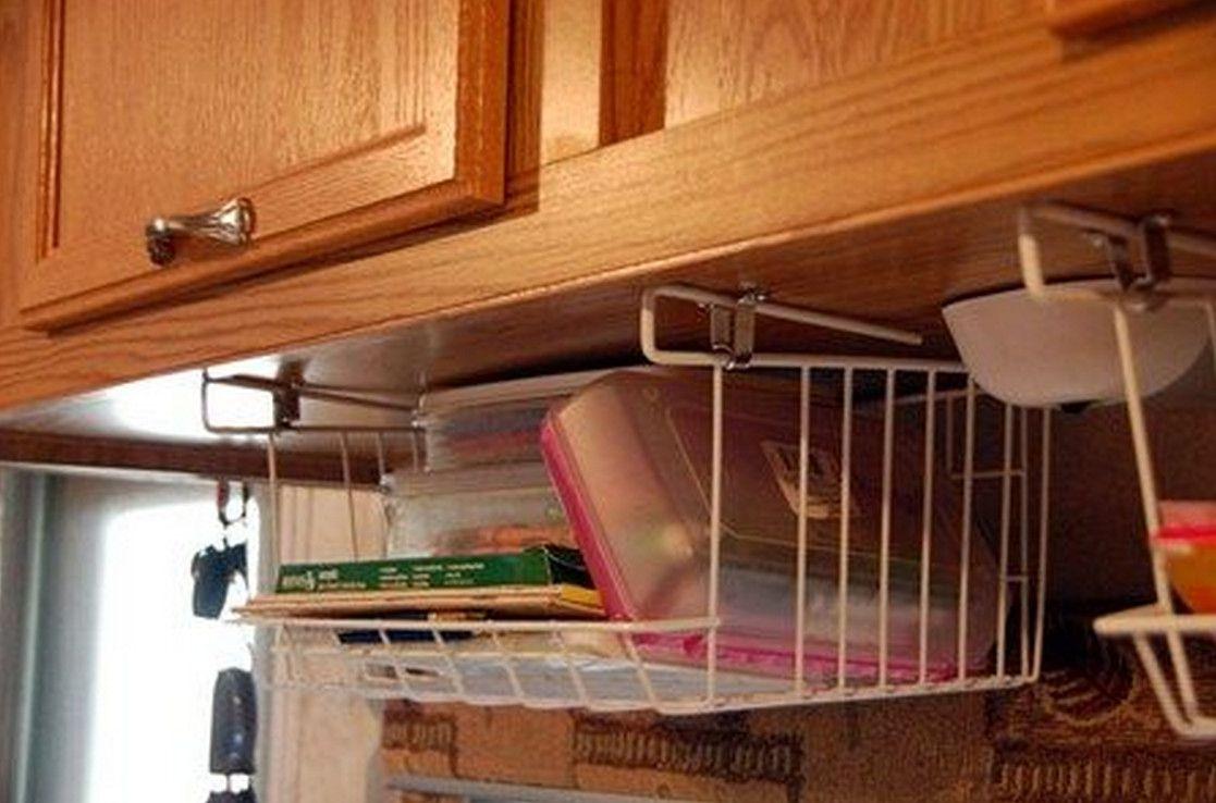 under cabinet basket storage 3 Pinterest