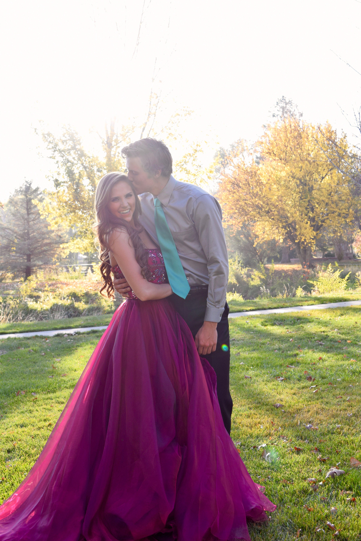 Homecoming goals the perfect pair purple dress Cute dates for dances couples Ypsilon Dresses utah Prom beautiful couple