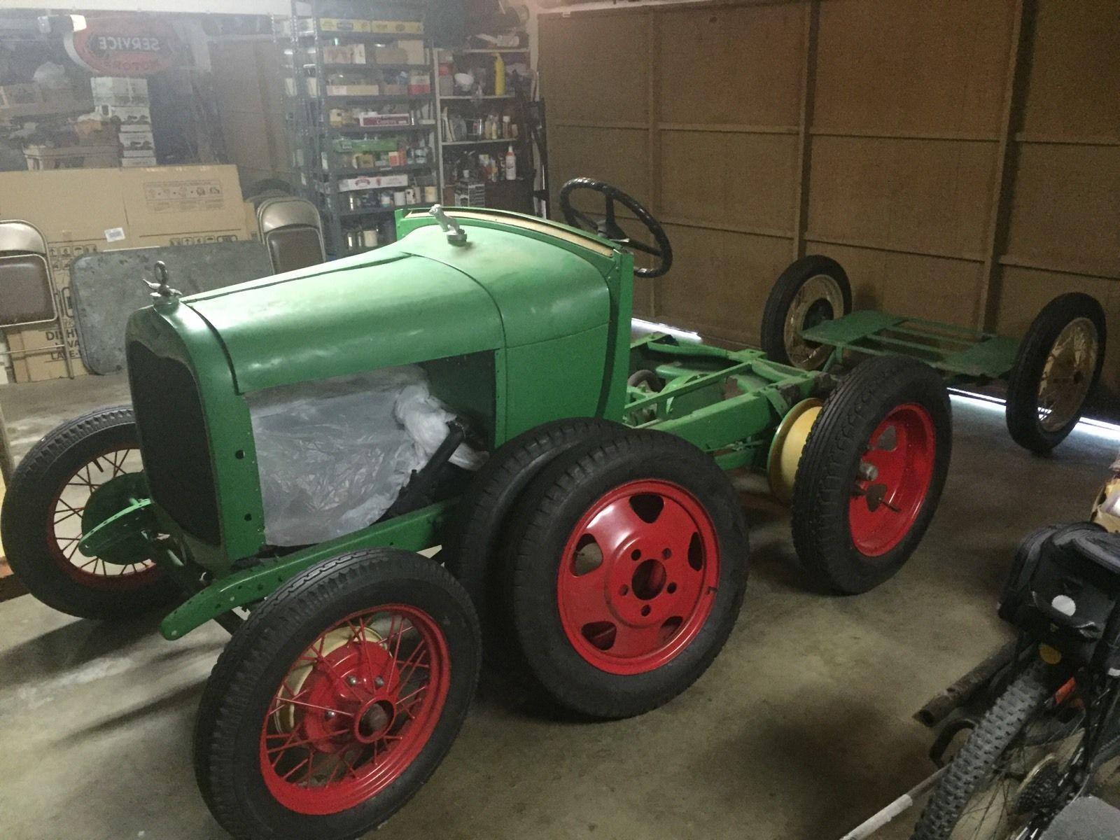 1928 1929 model aa ford truck doodlebug tractor w trailer rebuild or parts ebay