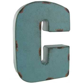 Brown Metal Letters Small Red Blue Or Brown Metal Letter  C  Monogram Wall Office