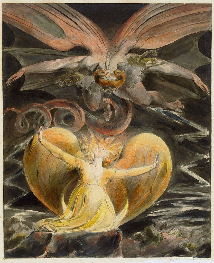William Blake Art The Number of the Beast is 666 Revelations 8x10 Canvas Print