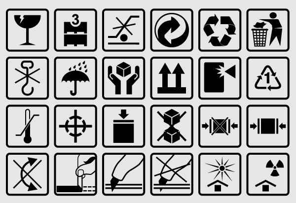 Free Vector Packaging Box Symbols Box Symbol Box Icon Symbols