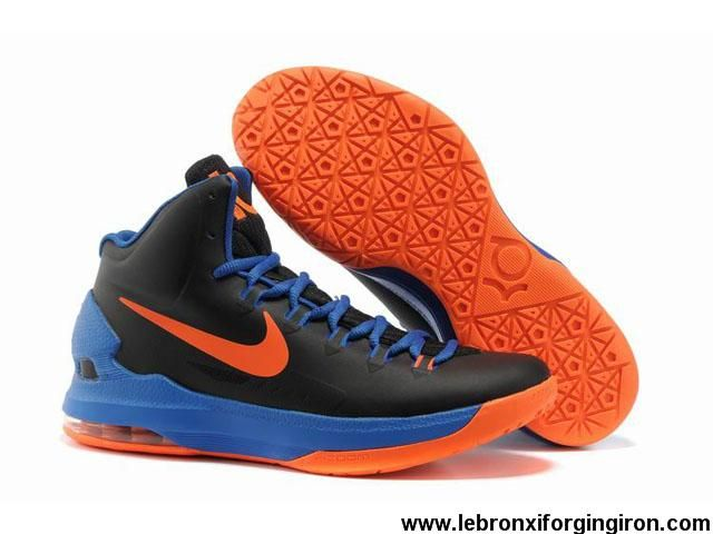 9c465914492 Buy Latest Listing Black Blue Orange 554988 048 Nike Zoom KD V 5 Basketball  Shoes Shop