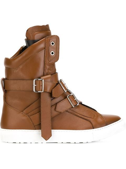 Shop Dsquared2 multi top buckle strap hi top multi sneakers in Fashion Clinic 22cd4e