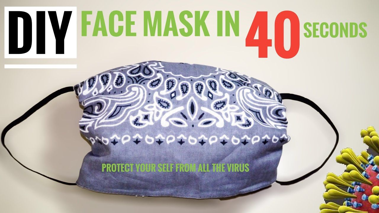 Easy Steps Diy Face Mask In 40 Seconds No Sewing Machine No