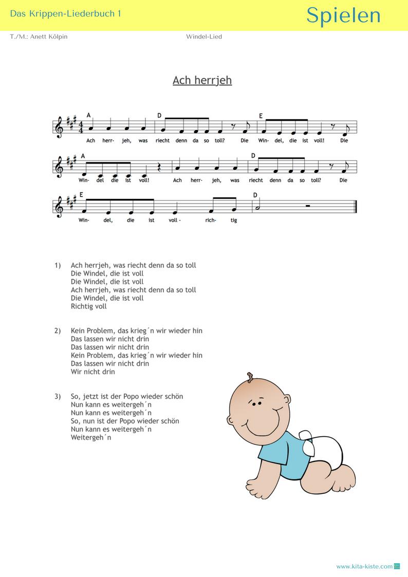Krippen Liederbuch 1 Pdf Kinder Lied Kinderlieder Und