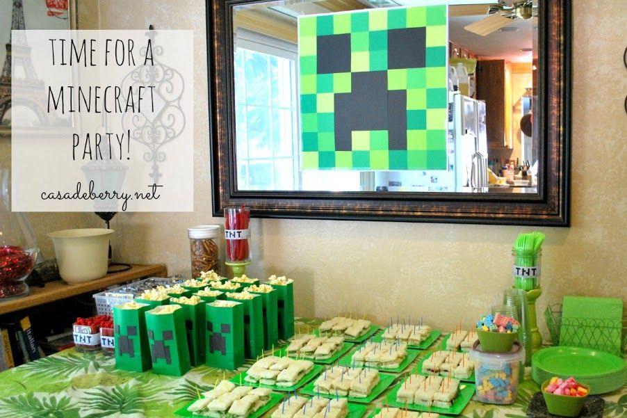 Minecraft Party, part 1 | Casa de Berry