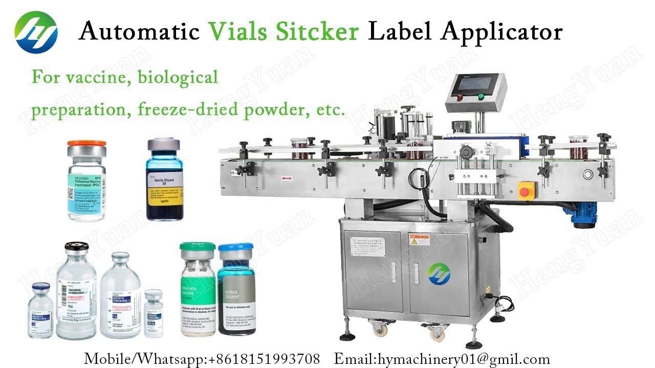Automatic Vials Selfadhesive Sitcker Label Applicator