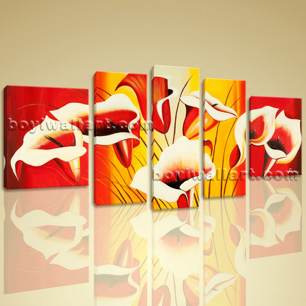 Huge Giclee Print Lily Abstract Flower Floral Painting Reproduction ...