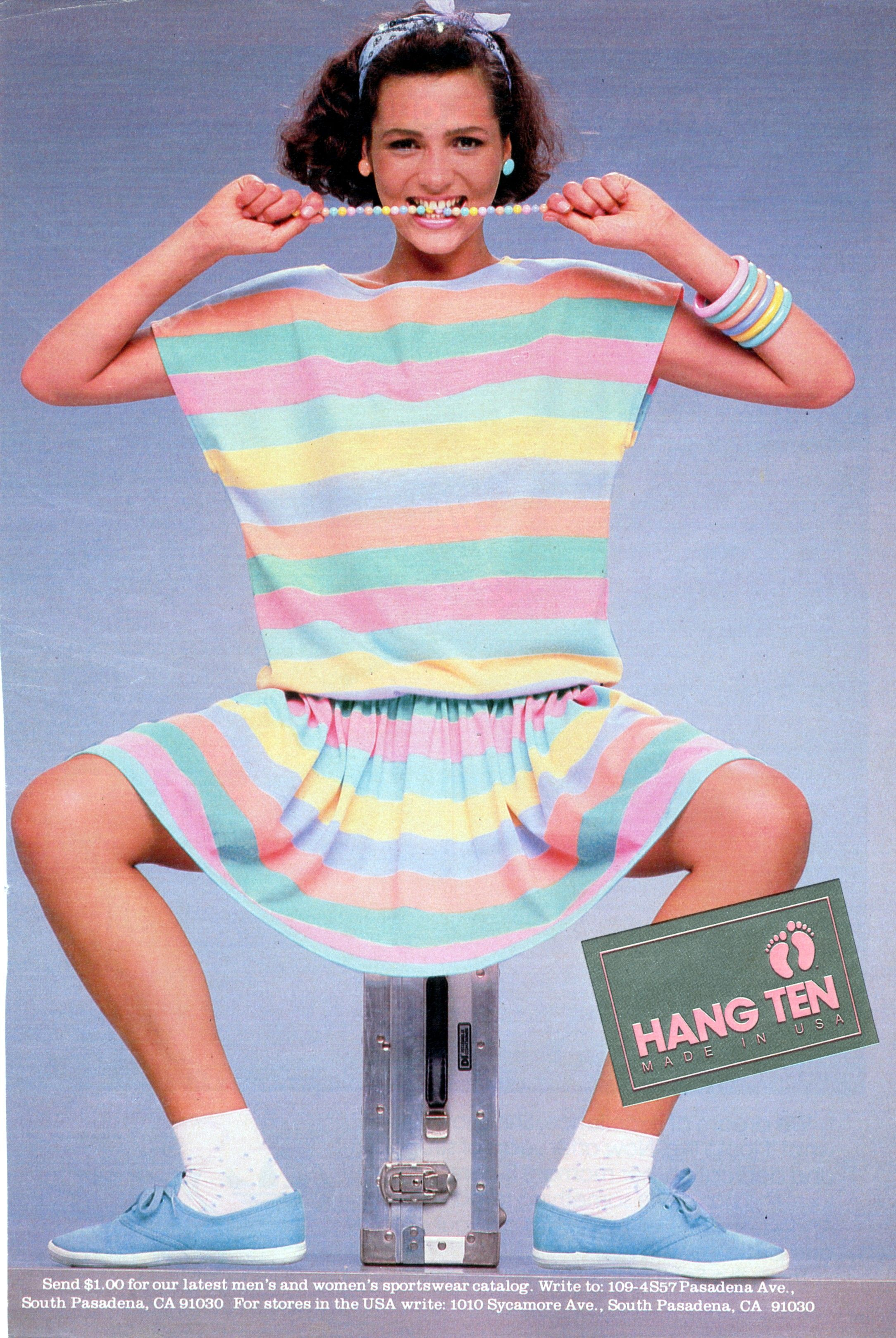 Hang Ten Pastel Dress - 1984 I remember this ad and how much I loved the multi-color