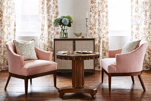 Two Chairs And Curtains Made From Sarah Richardsonu0027s Kravet Fabric Line