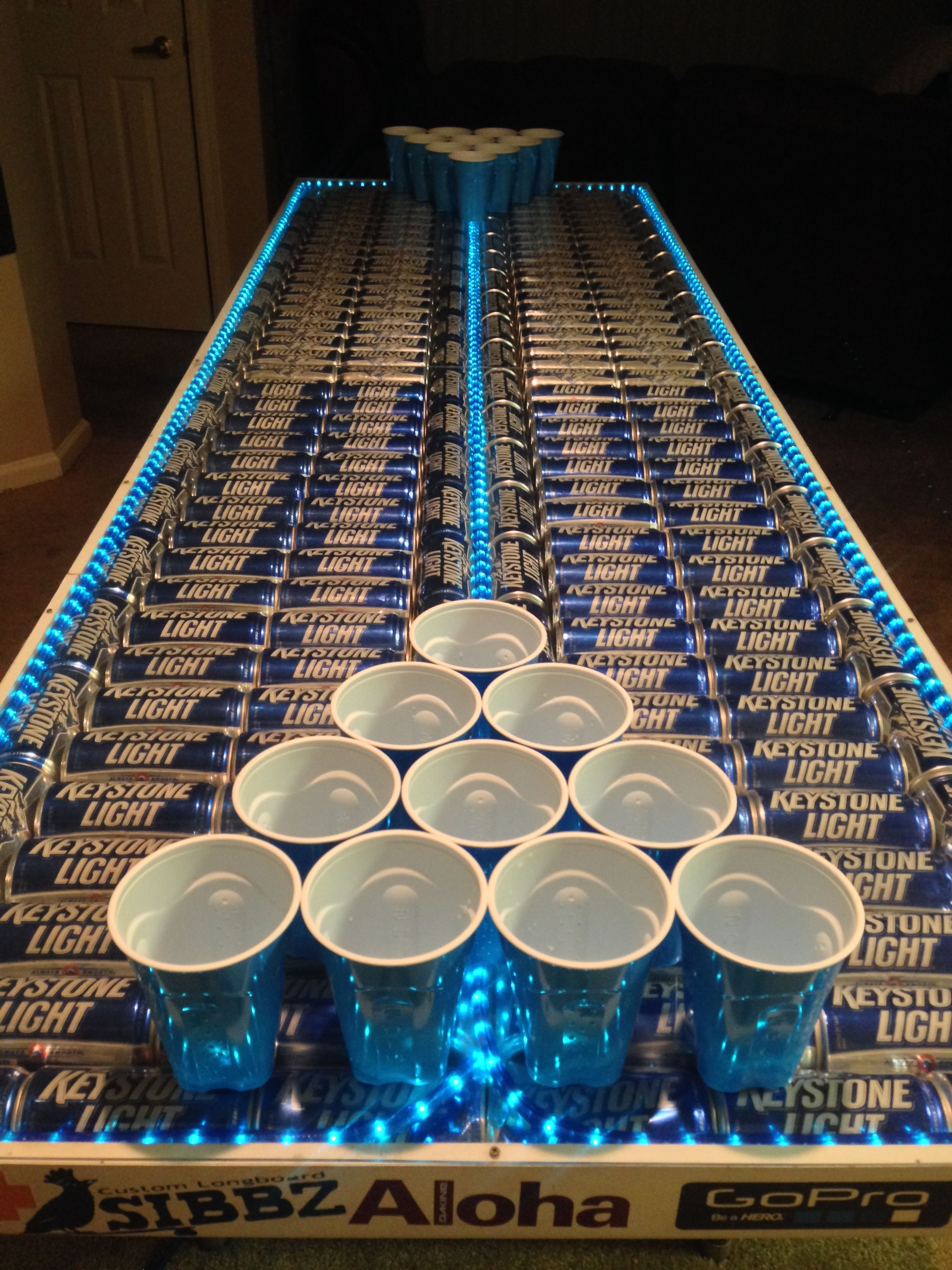 Hockey beer pong table - Keystone Light Beer Pong Table