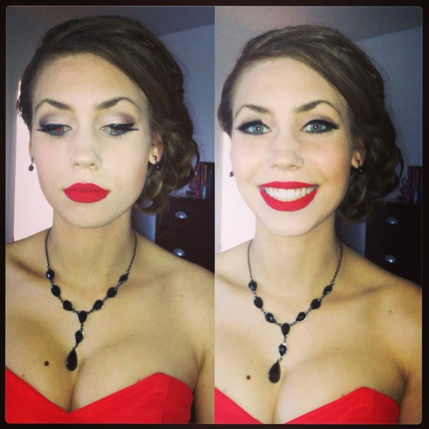 Prom Red Lips