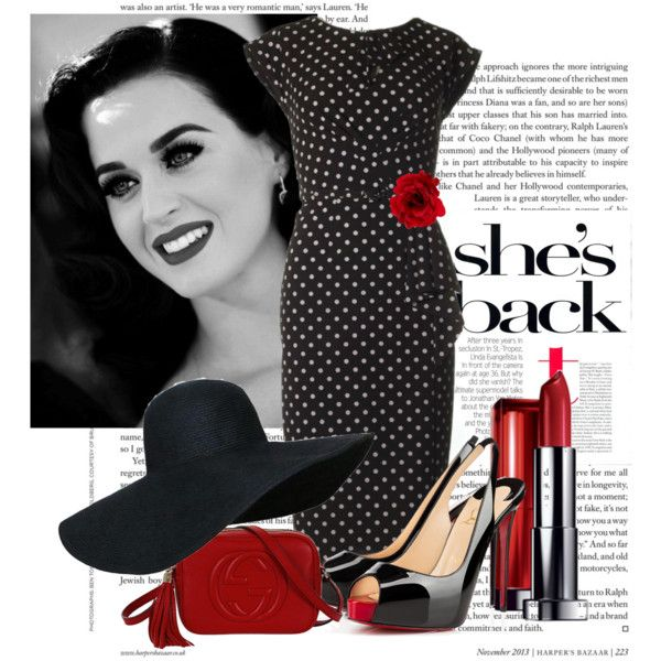 classic by ria-kostopoulou on Polyvore featuring moda, Stop Staring!, Christian Louboutin, Gucci, Accessorize and Maybelline