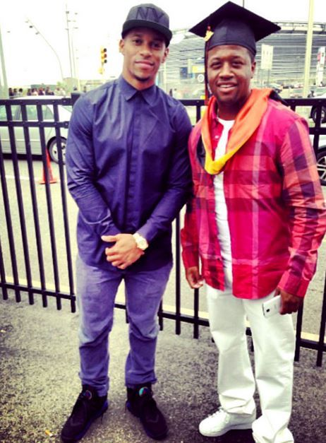 0e2a73f4ab7a8c Victor Cruz Wearing Air Jordan Retro 8