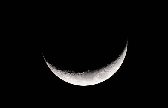 Luna en cuarto creciente vista desde San Gabriel Valley, en Los ...