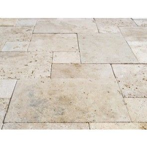 Clic Travertine Tiles Pavers Unfilled French Pattern 20mm