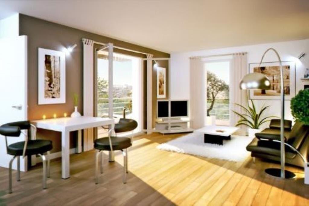 Vente appartement t2 neuf 40 m\sup2; terrasse bord de mer la seyne - salon sejour cuisine ouverte