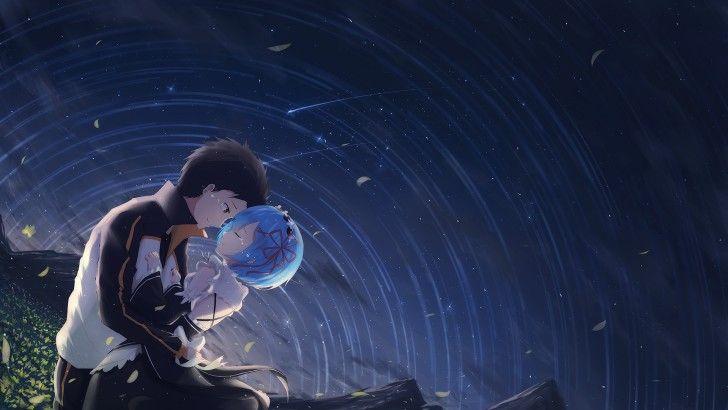 Subaru With Rem Re Zero Anime Sky Wallpaper Anime Images Anime Subaru