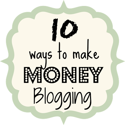10 Ways to Make Money Blogging {rainonatinroof.com} #blog #blogging #tips #money #makemoney