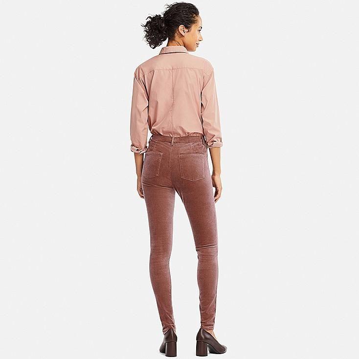 1fb4d8083bcd70 WOMEN HEATTECH HIGH-RISE VELVET LEGGINGS PANTS, GRAY | clothes ...