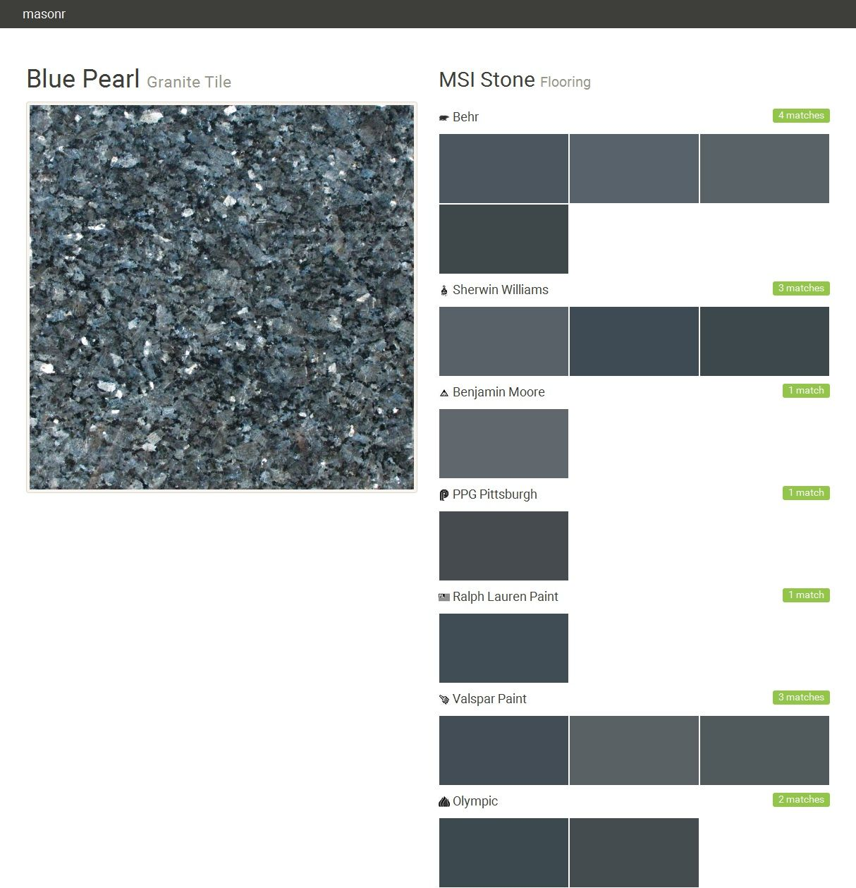 Tile Msi Stone Blue Pearl Granite Behr Blue Paint Matching