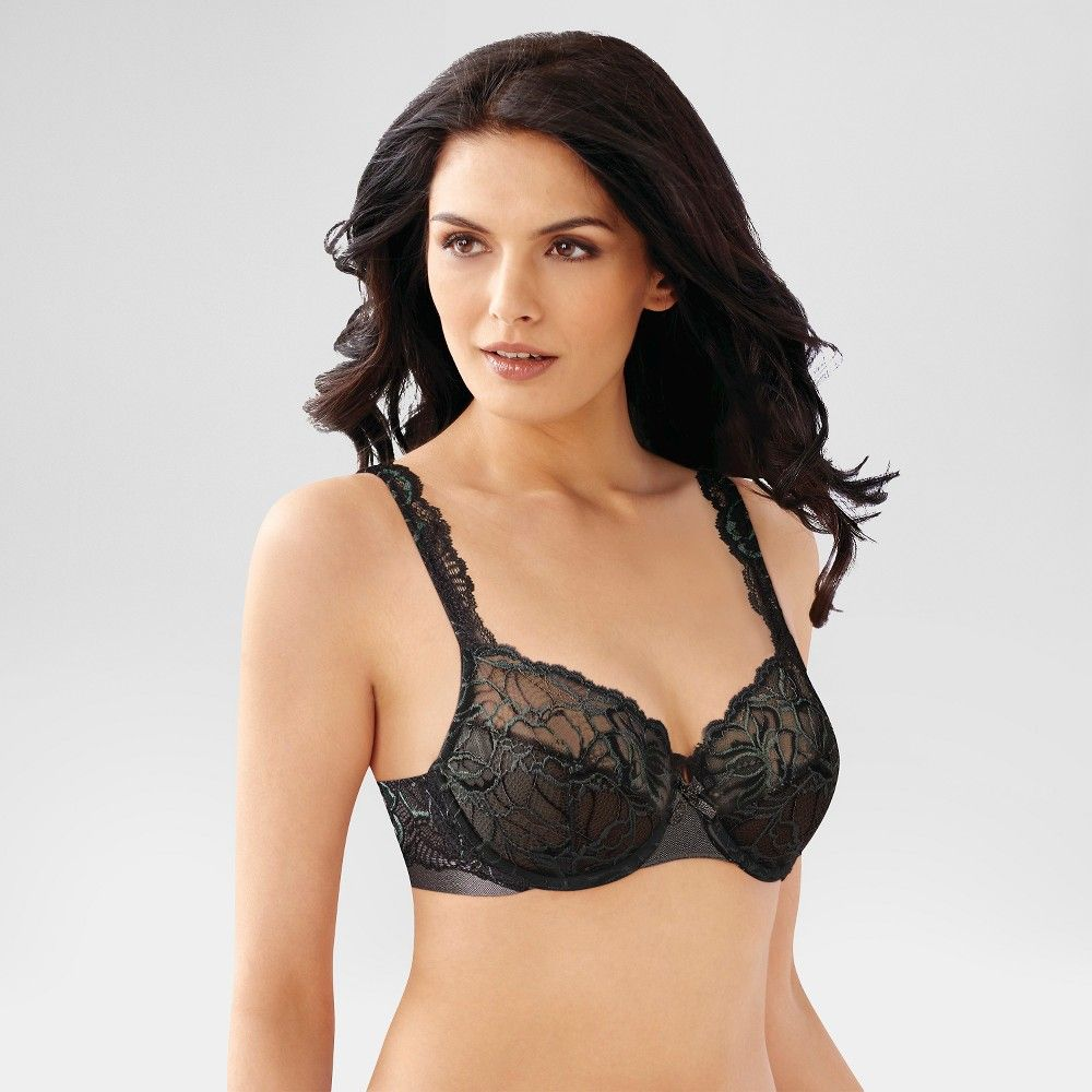 f53e626ea Beauty by Bali Women s Lace Unlined Underwire Bra has luxurious lace and  satin trim that creates a beautiful and femine bra. Size  40C. Color  Black.