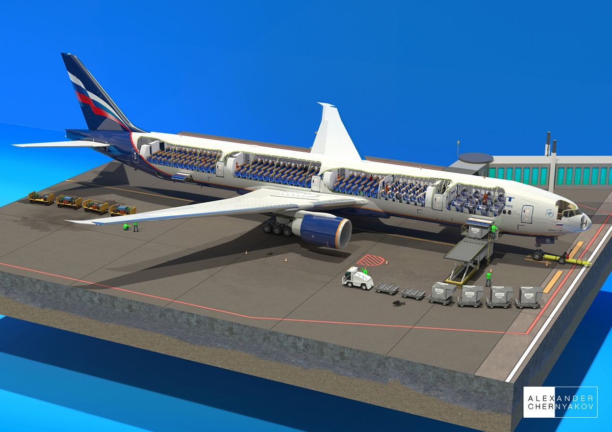 hight resolution of boeing 777 300er cutaway diagram on behance 3d cross section andboeing 777 300er cutaway diagram on