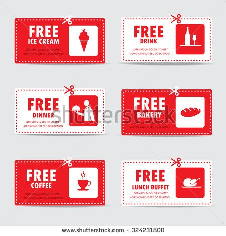 Gift Voucher Certificate Coupon Food Menu And Business Card Tags